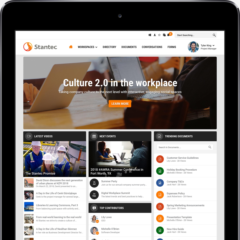 Stantec and Unily build a digital newsroom