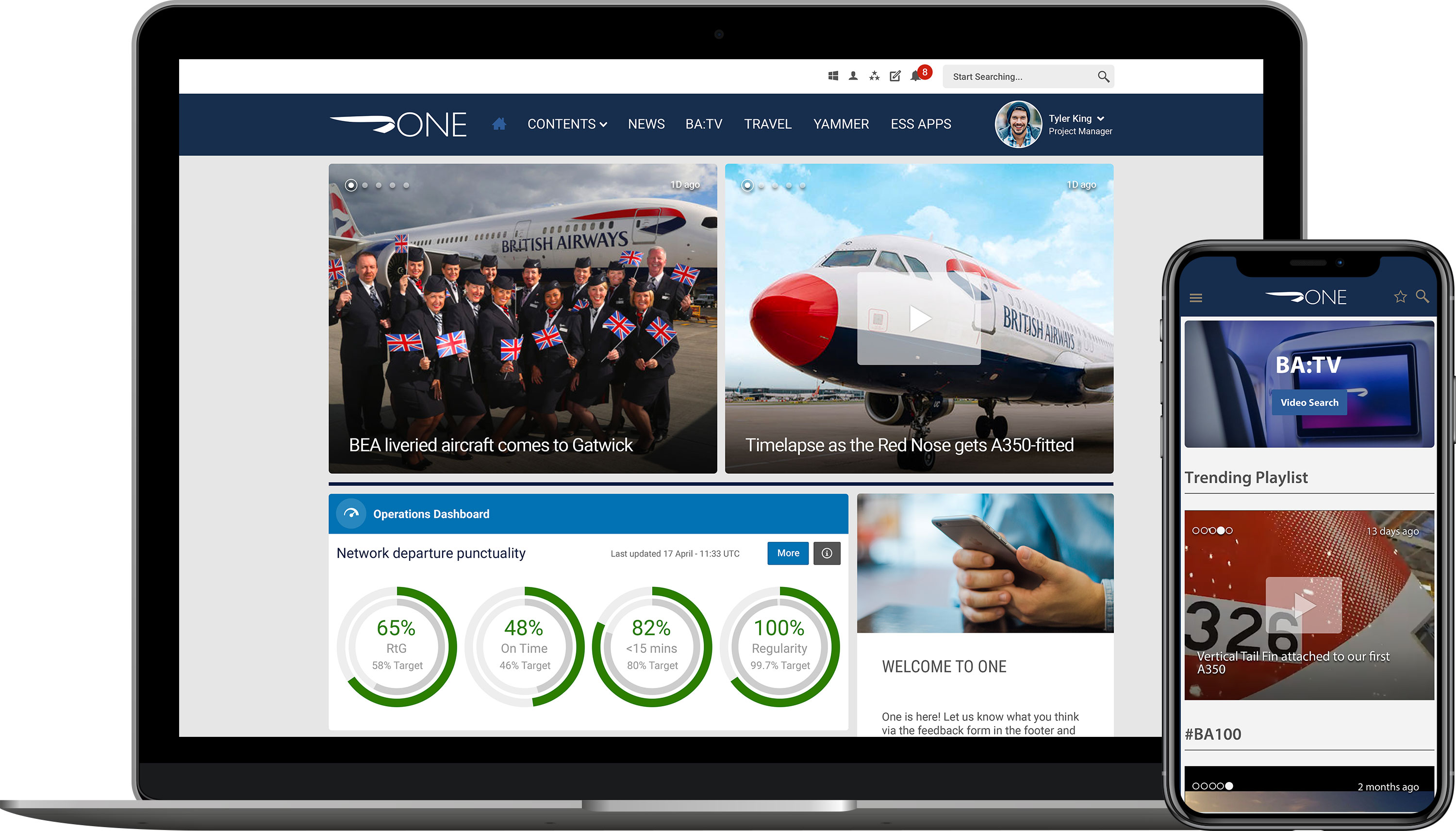 British airways engage frontline employees with mobile intranet