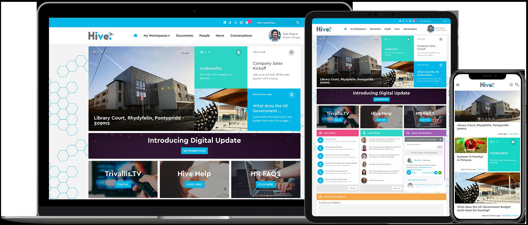 Trivallis and Unily's multi award-winning intranet