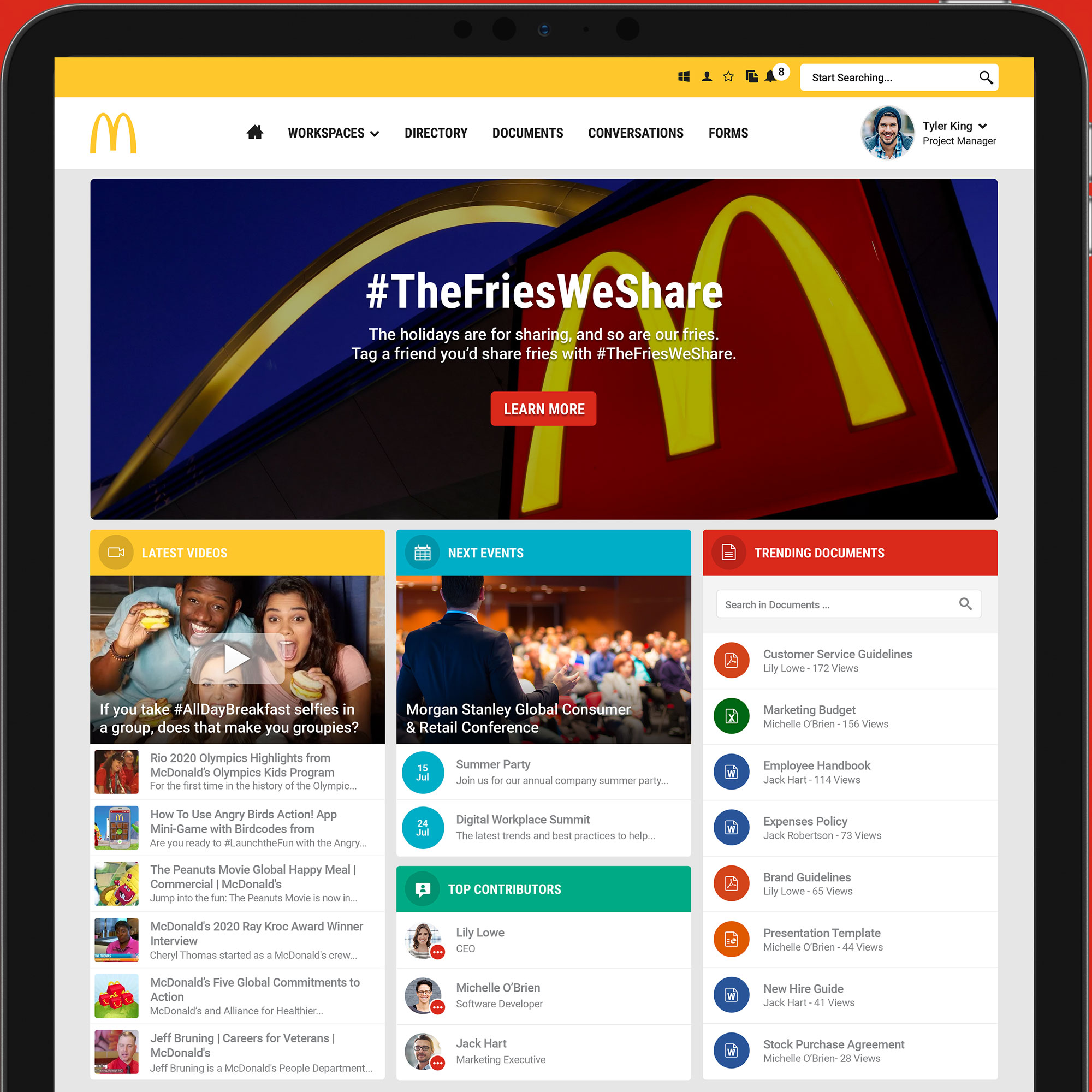 Intranet Features & Functionality | Jive Software