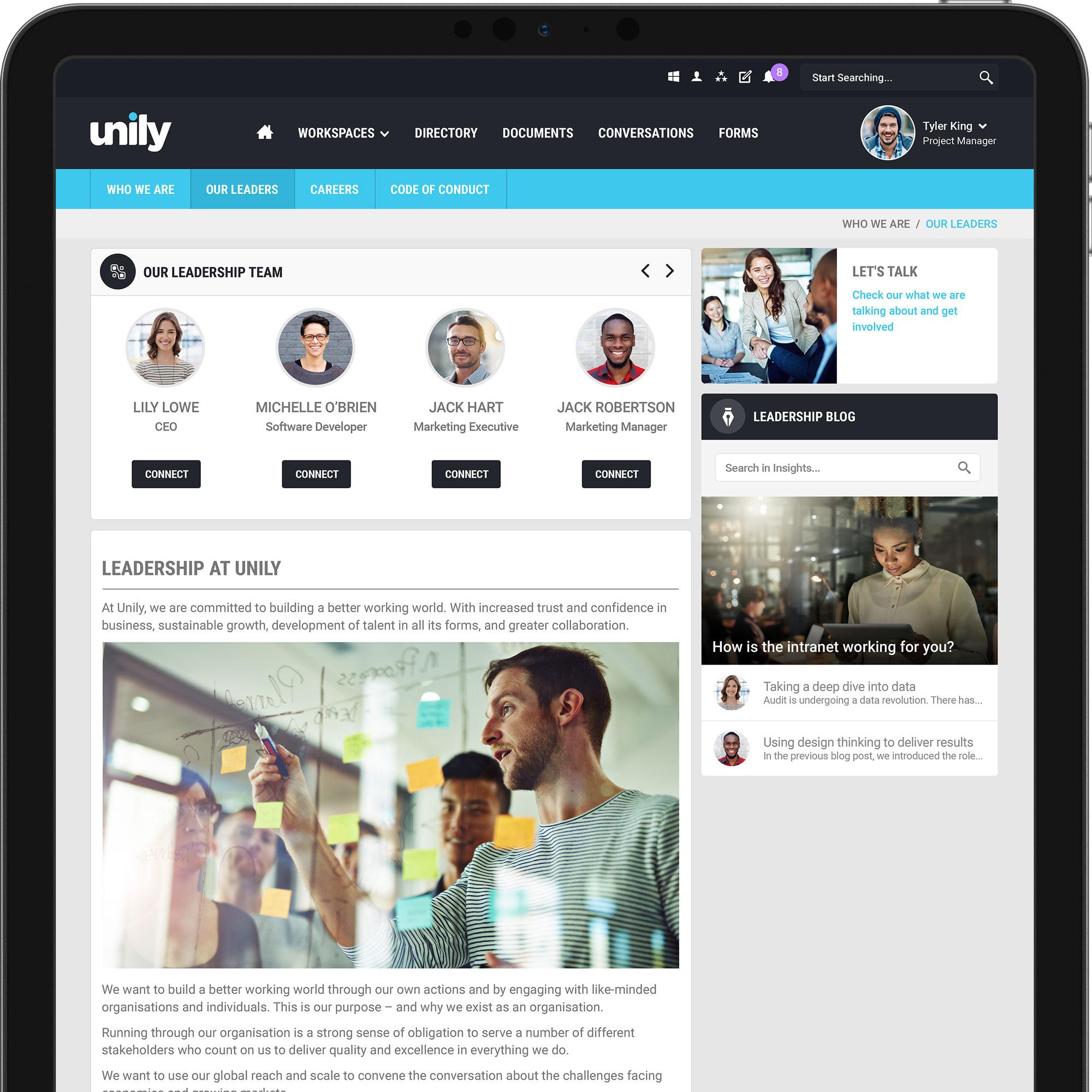 Leadership directories keep teams connected