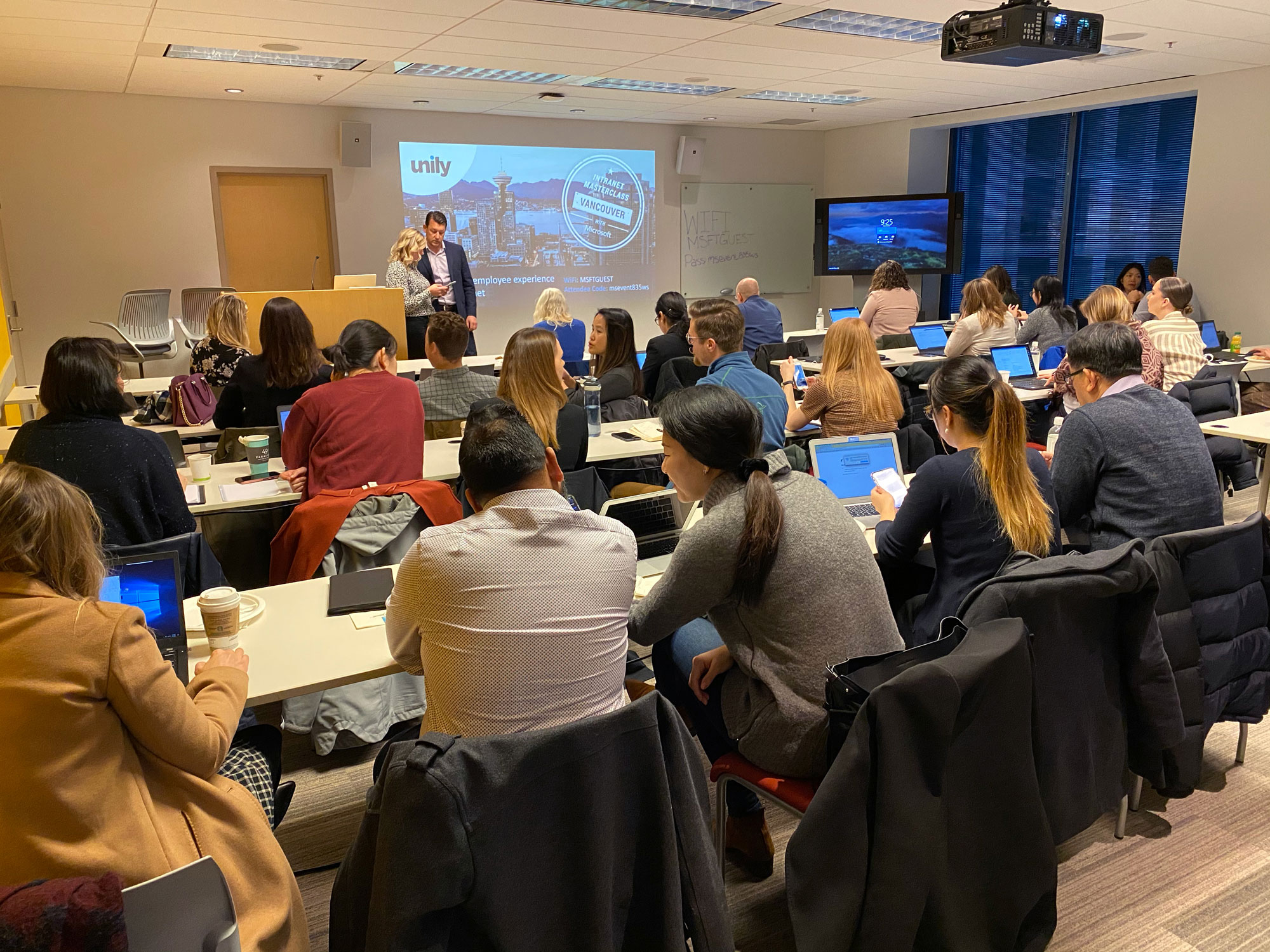 Unily Canada masterclass attendees
