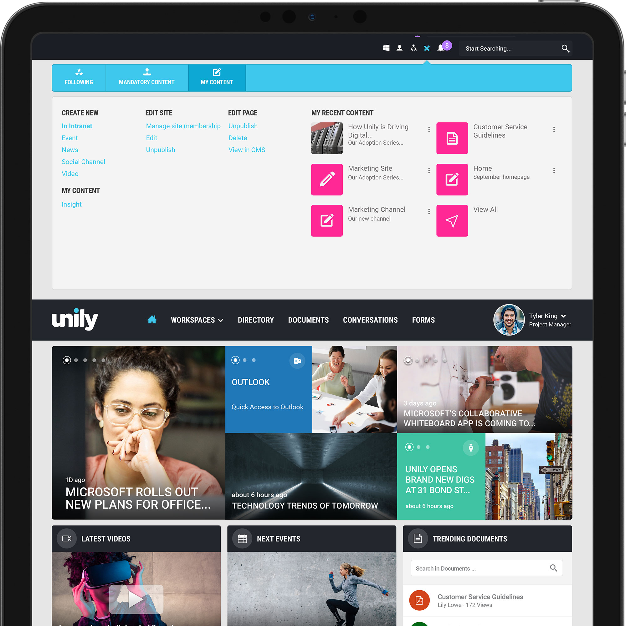 best intranet cms ease of use